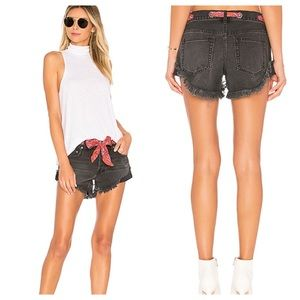 Free People Sashed & Relaxed Short in Black